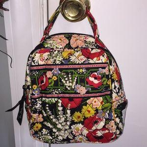 Vera Bradley Fabric Lunch Bag Poppy Fields NWOT